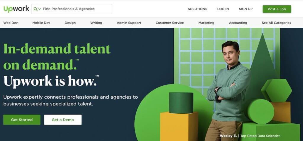 register your translator resume on UpWork freelance platform